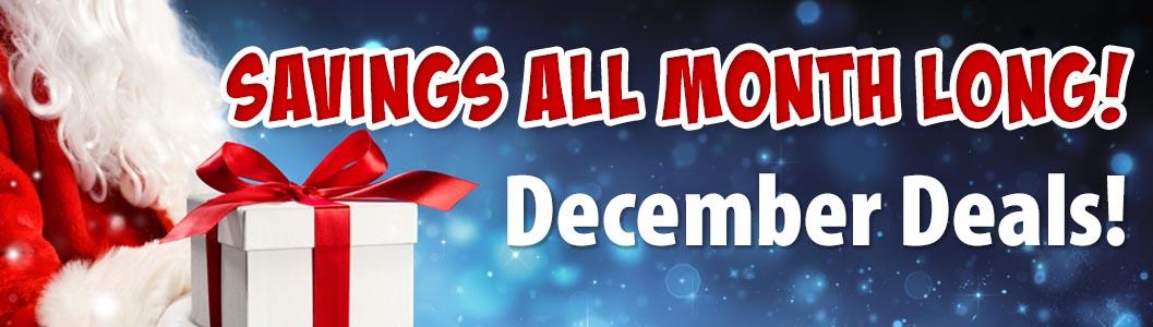 December Deals! Amazing deals start now!