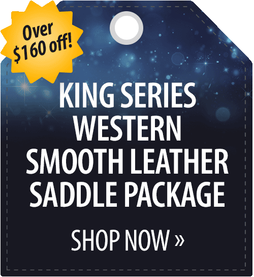 King Series Western Smooth Leather Saddle Package