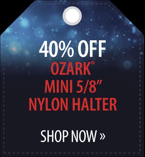 40% off Ozark� Mini 5/8in Nylon Halter