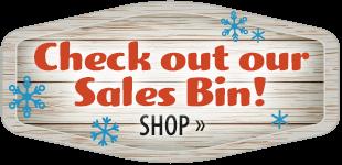 Sale Bin! Shop Now