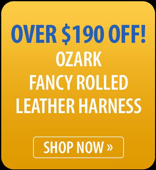 Ozark Fancy Rolled Leather Harness