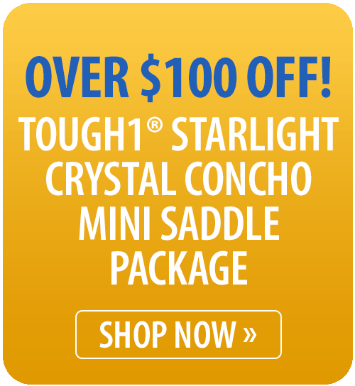 Tough1® Starlight Crystal Concho Mini Saddle Package