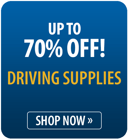 Up to 70% off Driving Supplies