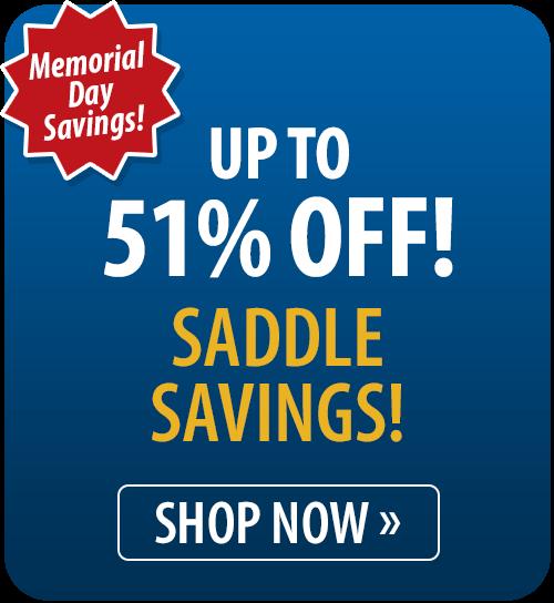 Saddle Savings! Up to 51% off
