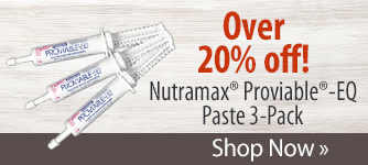 Nutramax® Proviable®-EQ Paste 3-Pack! Shop Now