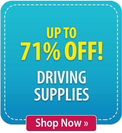 Up to 71% off Driving Supplies