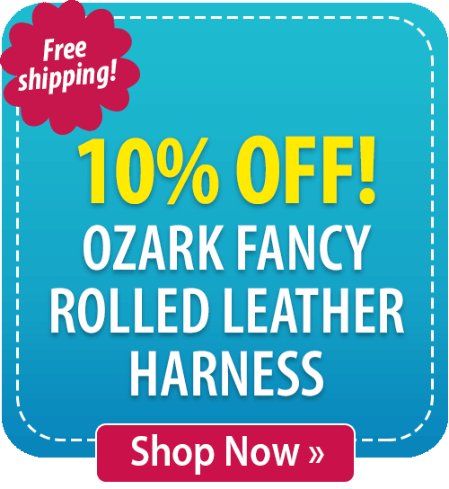 10% off Ozark Fancy Rolled Leather Harness