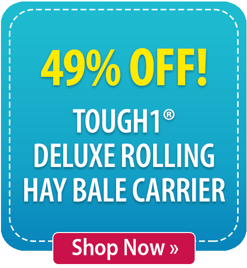 49% off Tough1® Deluxe Rolling Hay Bale Carrier