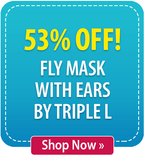 53% off! Fly Mask with Ears by Triple L
